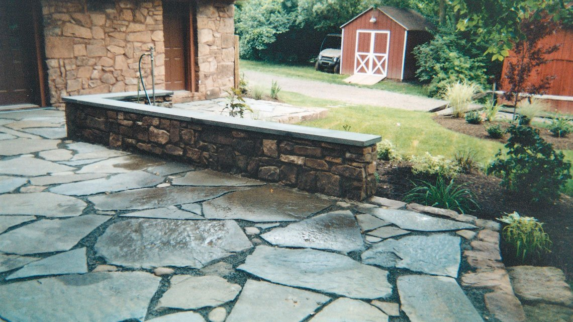 Stone porch