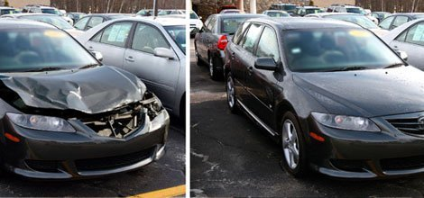Before and after collision repair