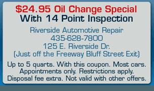 Riverside Automotive Repair Coupon - Saint George, UT