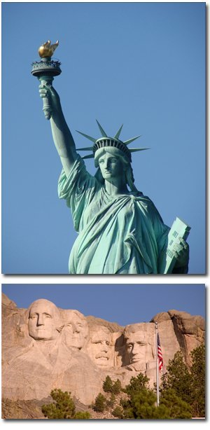 Affordable Airport Transportation - Statue of Liberty, Mount Rushmore