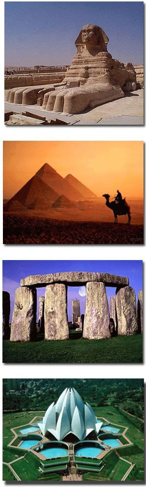 Affordable Airport Transportation - Great Sphinx, Egyptian Pyramids at Sunset, Stonehenge, Lotus Temple- Delhi