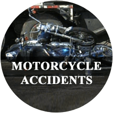 Accident between a motorcycle and a truck