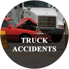 Accident between a tractor-trailer and a car