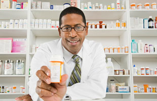 Man holding medicine