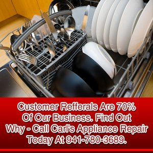 Dryer Repair - Nokomis, FL - Carl's Appliance Repair - Customer Refferals Are 70% Of Our Business. Find Out Why - Call Carl's Appliance Repair Today At 941-780-3689.
