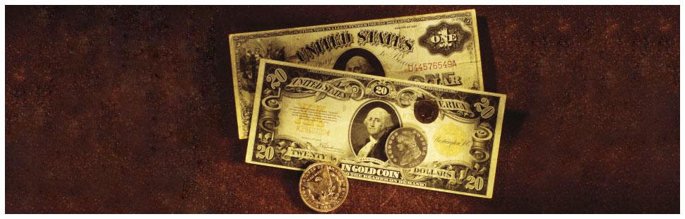 Rare dollar money and coin