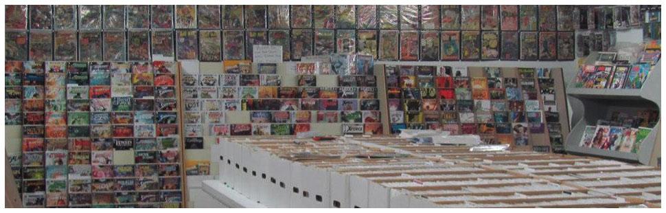 Wide selection of memorabilia