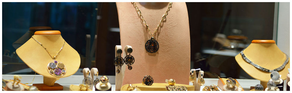 Collection of different kinds of gold and silver jewelry