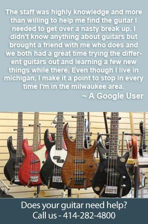 Guitar Lessons - Milwaukee, WI  - Blue Flame Music - Call 414-282-4800 for details about our Lesson Programs