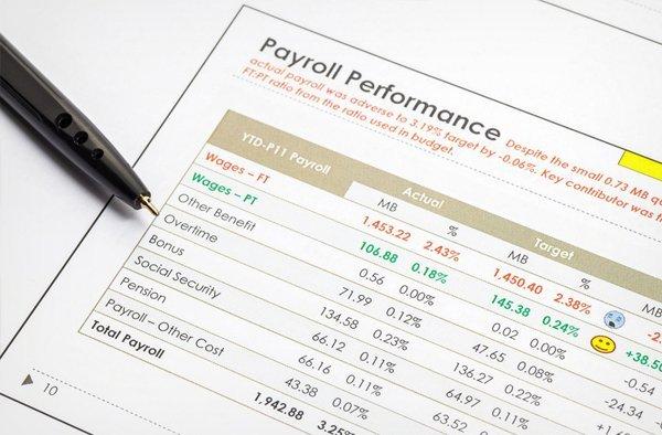 Payroll performance sheet