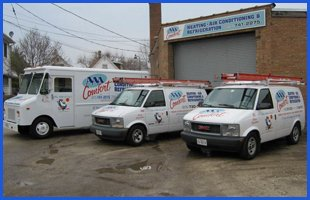 AAA Comfort Heating & Air Conditioning service vehicle
