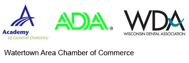 American Dental Association, Watertown Area Chamber of Commerce, Academy of General Dentistry