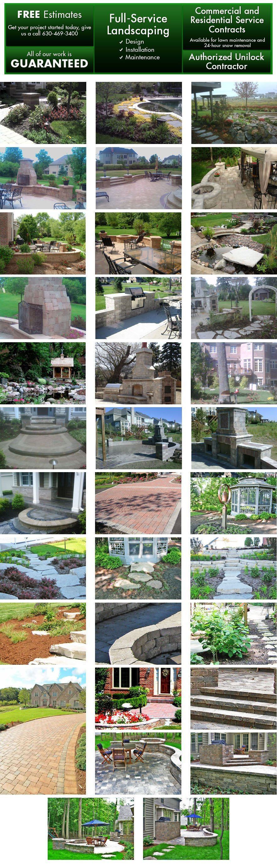 Glen Ellyn, IL - Green Planet Inc - Full-service Landscaping, Hardscaping, Brick Paving, and 24-hour Snow Removal Services