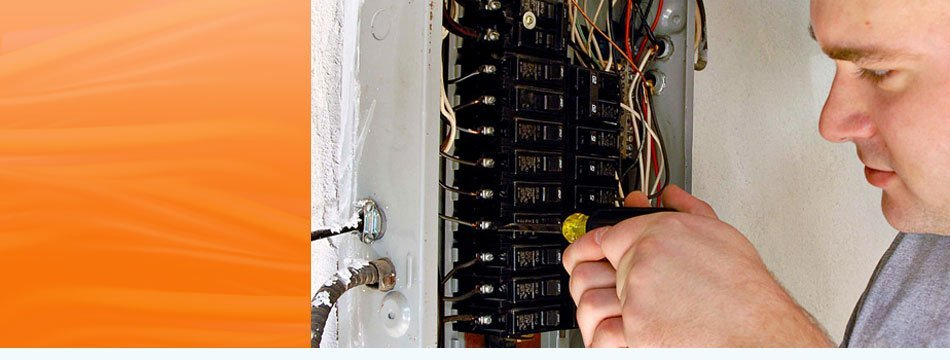 Man inspecting a switch box