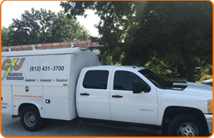 C&J Electric & Construction truck
