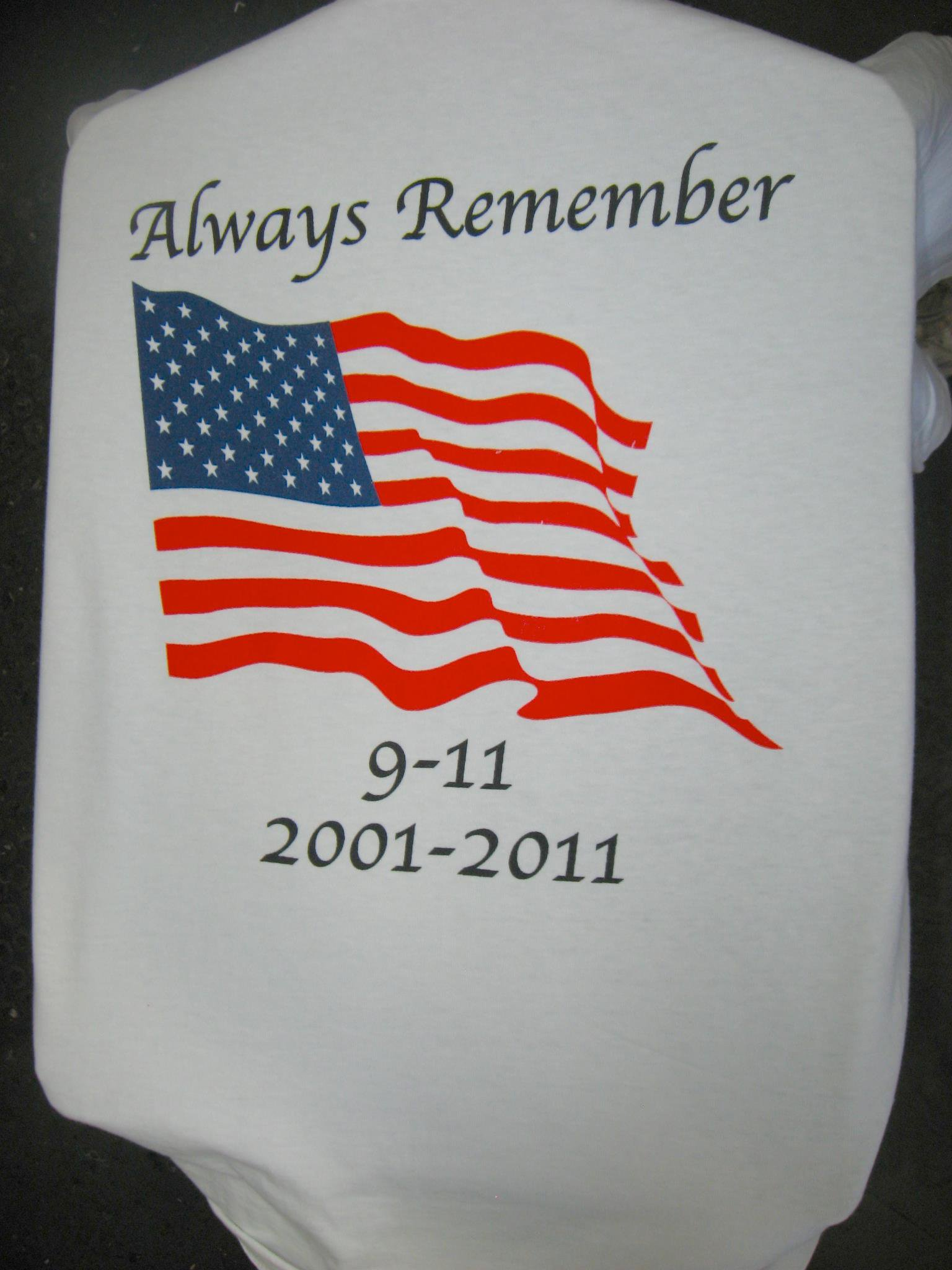 always remember 9-11 screen print