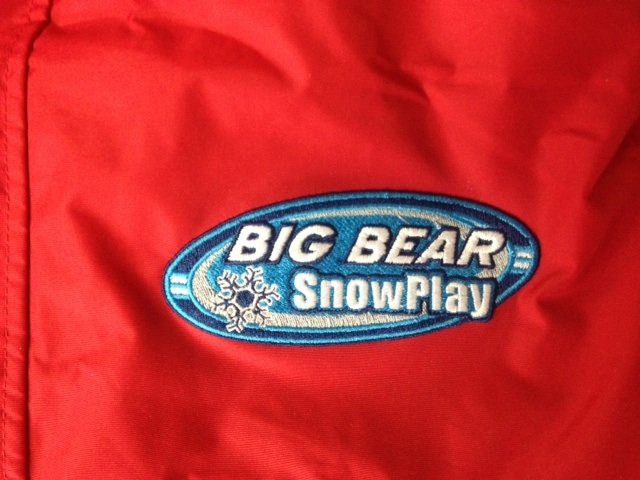 Big bear snow play embroidery