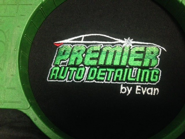 Premier Auto Detailing embroidery