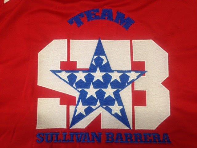 Team SUllivan Barrera embroidery