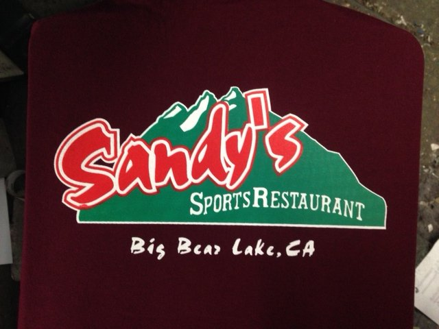 Sandy Sports Bar Screen print