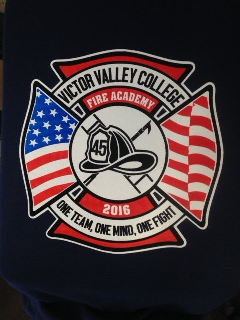 Victor Valley College Screen print