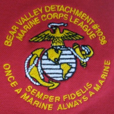 Bear Valley Detachment marine embroidery
