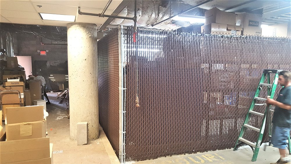 Chain link fences