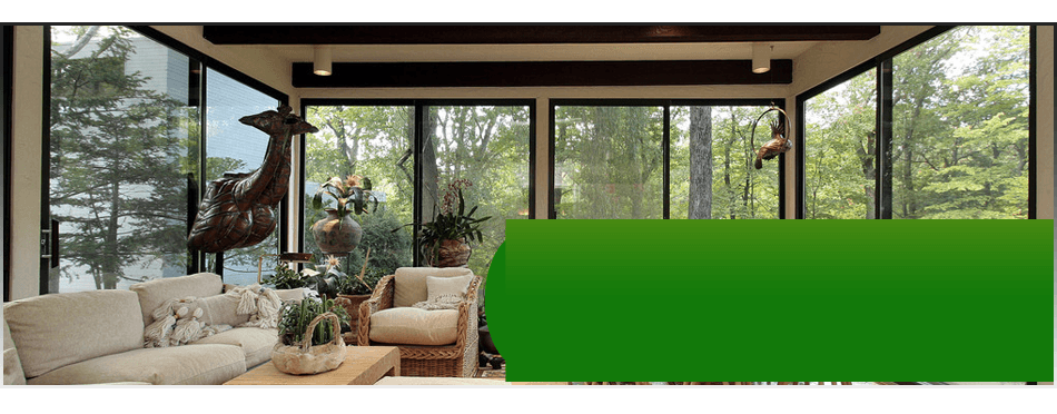 A luxurious view of a sunroom