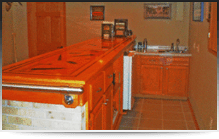 Custom cabinets in the kitchen