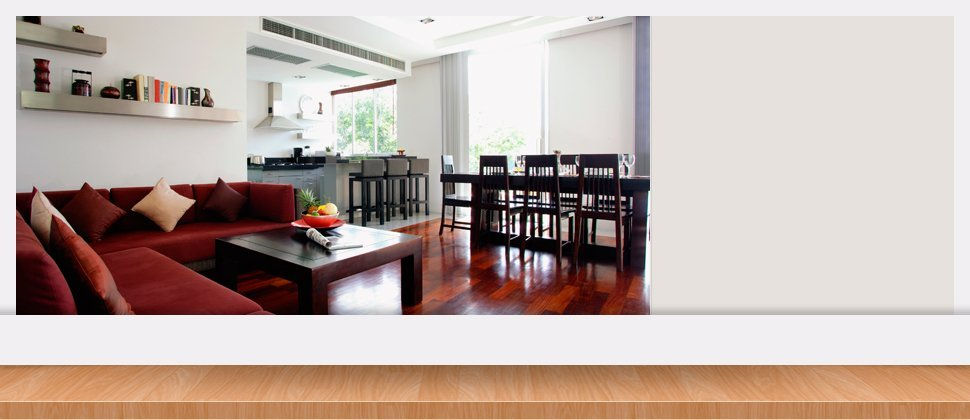 Couch with wooden dining table and chairs