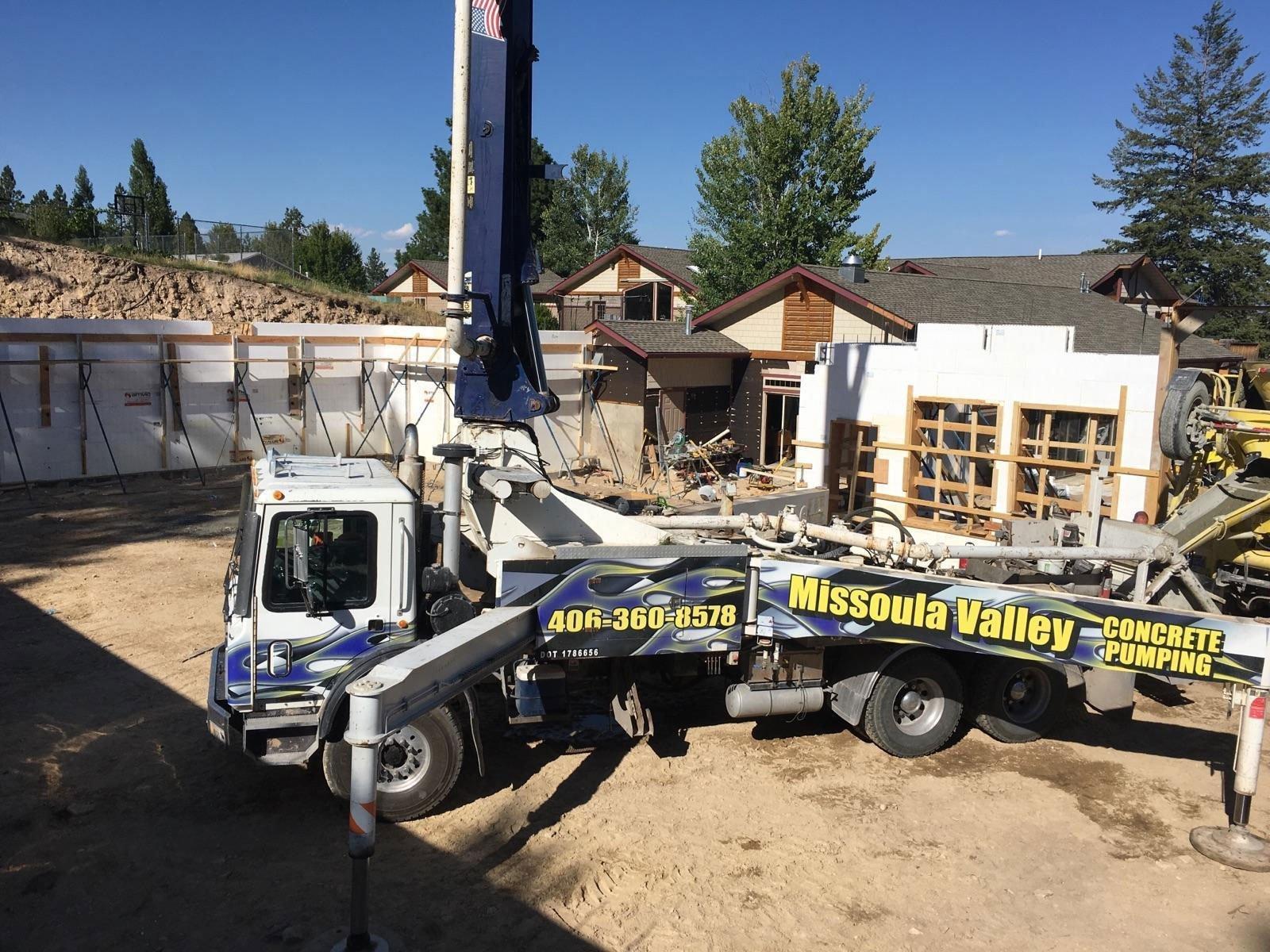 Missoula Valley Concrete Pumping Photo Gallery | Missoula MT