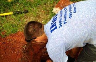 Man uses septic pumping