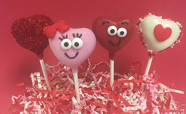 Heart shape cake pops
