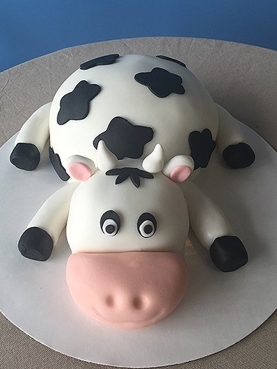 Cow inspired cake