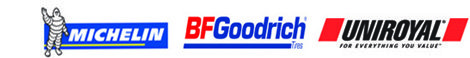 ASE Certified, Uniroyal, BF Goodrich Tires and Michelin
