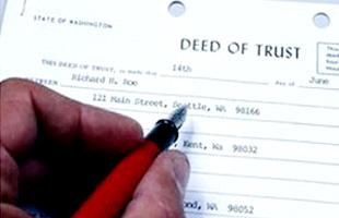 Pen Writing Deed of Trust