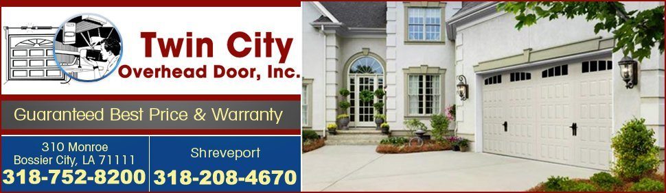 garage doors - Bossier City, LA - Twin City Overhead Door Inc