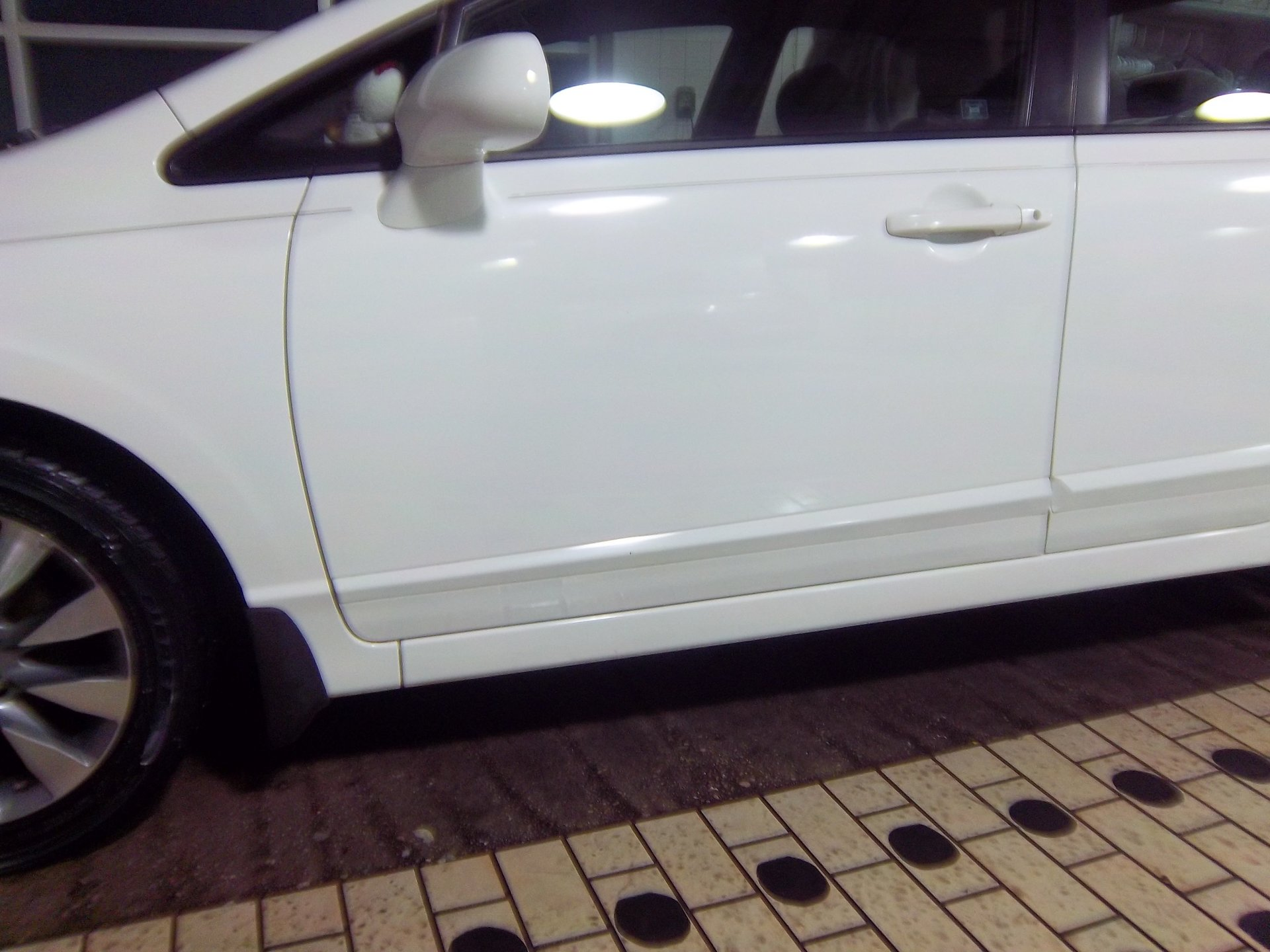After White Car
