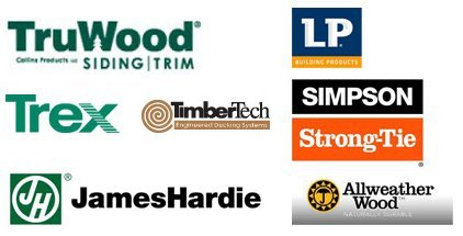 Truwood Siding, Trex, James Hardie, LP Building Products, Simpson Strong-Tie, Allweather Wood