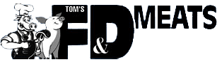Tom's F & D Meats logo