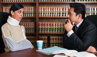 Injured talking to lawyer
