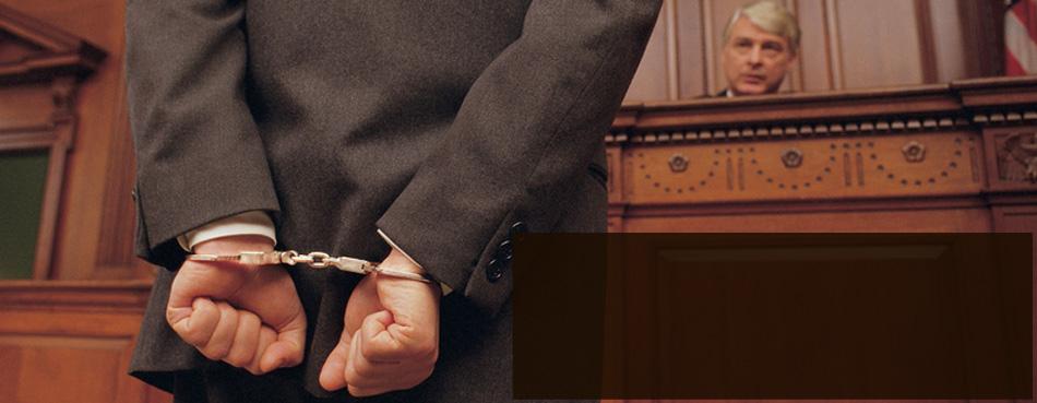 Criminal on handcuff