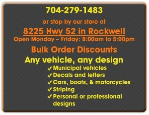 Vehicle Graphics and Lettering - Rockwell, NC - Graphic Signs
