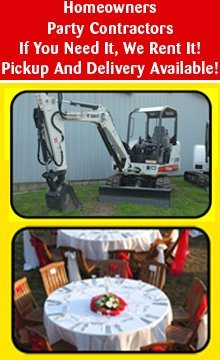 Heavy Duty Equipment - Starkville, MS - HANDYMAN RENTALS