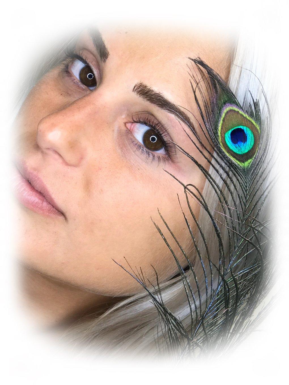 Closeup of lash extensions