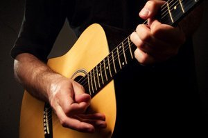 Hand in guitar