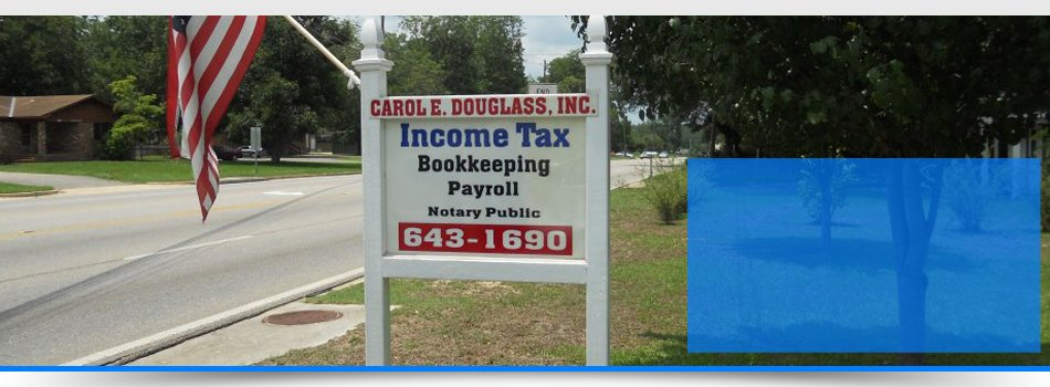 Carol E Douglass Inc sign