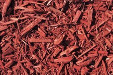 Ruby Red Colored Mulch