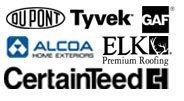 DuPont Tyvek Alcoa Aluminum Products CertainTeed Shingles GAF/Elk Shingles logo