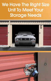 Storage Facility - Washington, PA - Race Track Self-Storage - We Have The Right Size Unit To Meet Your Storage Needs